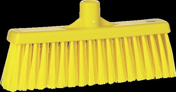 Щетка для подметания с прямой соединительной частью, 310 мм, средний ворс, желтый цвет
