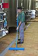 Щетка  для подметания с комбинированным ворсом, 610 мм, Мягкий/жесткий ворс, синий цвет, фото 2