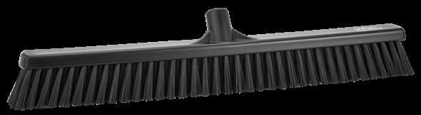 Щетка  для подметания с комбинированным ворсом, 610 мм, Мягкий/жесткий ворс, черный цвет