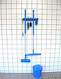 Настенное крепление для 4-6 предметов, 395 мм, синий цвет, фото 2