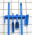 Настенное крепление для 4-6 предметов, 395 мм, лаймовый цвет, фото 3