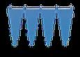 Настенный держатель для инвентаря, 240 мм, синий цвет, фото 3