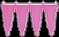 Настенный держатель для инвентаря, 240 мм, розовый цвет, фото 2