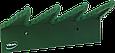 Настенный держатель для инвентаря, 240 мм, зеленый цвет, фото 2