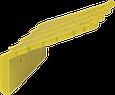 Настенный держатель для инвентаря, 240 мм, желтый цвет, фото 2