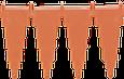 Настенный держатель для инвентаря, 240 мм, оранжевый цвет, фото 2