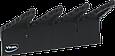 Настенный держатель для инвентаря, 240 мм, черный цвет, фото 2