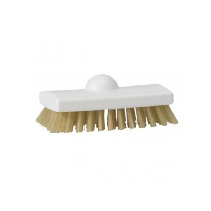 Скребковая щетка с термостойким ворсом, 150 мм, жёсткий ворс, белый цвет