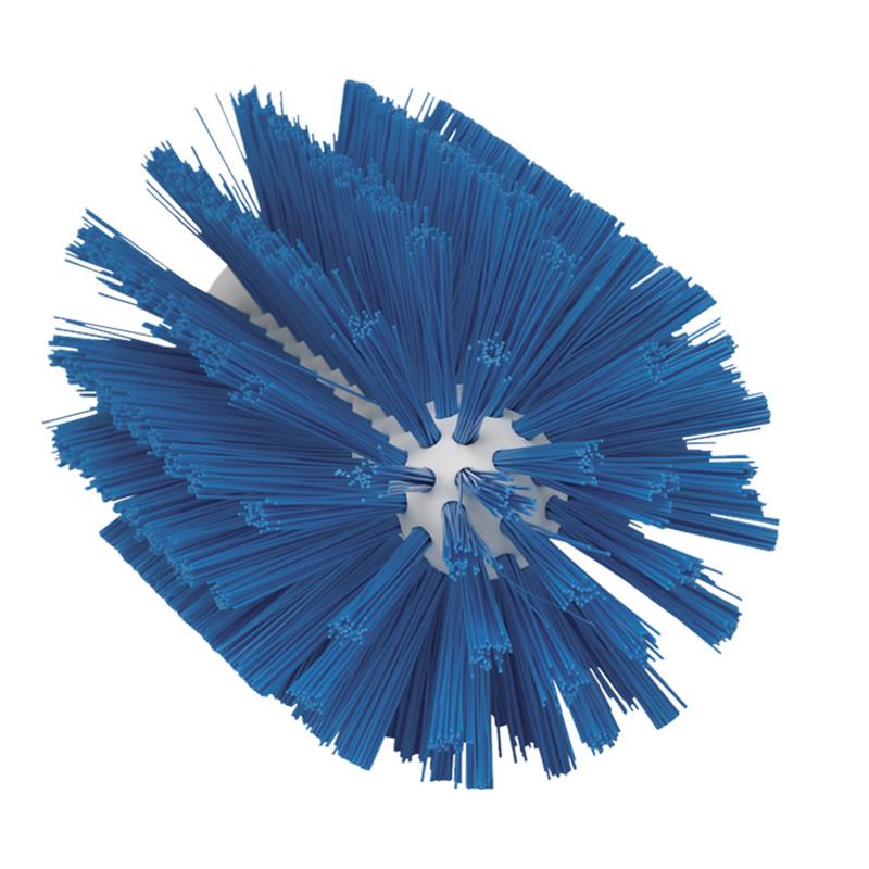 Щетка-ерш для очистки труб, гибкая ручка, Ø63 мм, жёсткий ворс, синий цвет