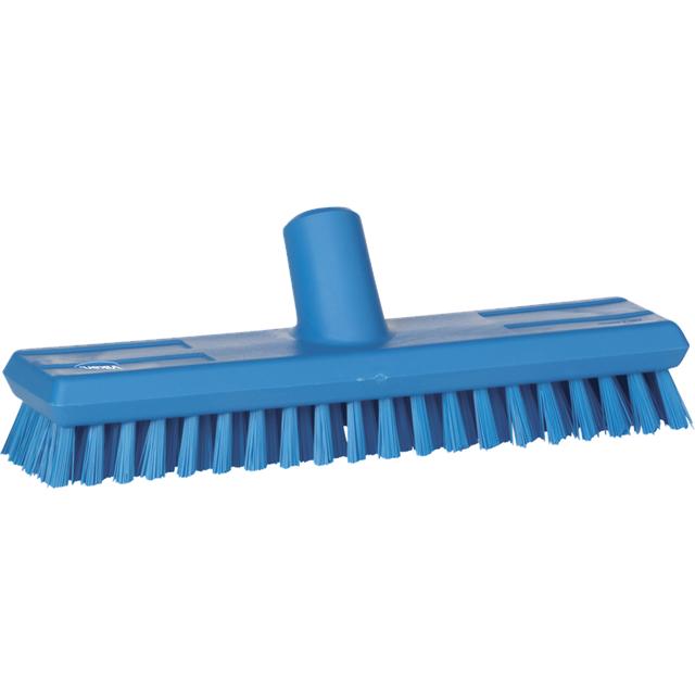Щетка скребковая поломойная с подачей воды, 270 мм, Супер Жесткая, синий цвет