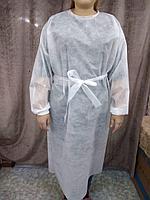 Одноразовый халат с манжетами