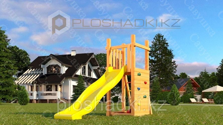 Детская площадка Савушка Мастер 6, игровая башня, пластиковая горка, песочница.