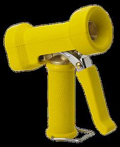 Пистолет для подачи воды, повышенной эксплуатационной надежности, желтый цвет