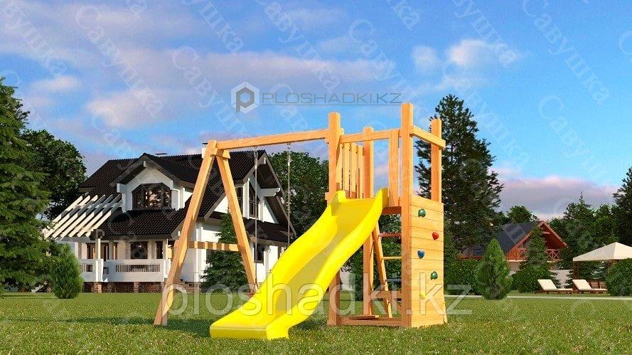 Детская площадка Савушка Мастер 6, с качелями гнездо .