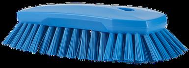 Щетка ручная скребковая, 240 мм, Очень жесткий ворс, синий цвет