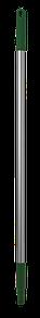 Ручка эргономичная алюминиевая, Ø25 мм, 1050 мм, зеленый цвет