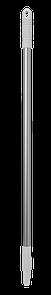 Ручка эргономичная алюминиевая, Ø25 мм, 1050 мм, белый цвет