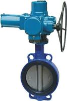 Затвор дисковый чугунный поворотный межфланцевый с электроприводом Ду 250 Ру 16