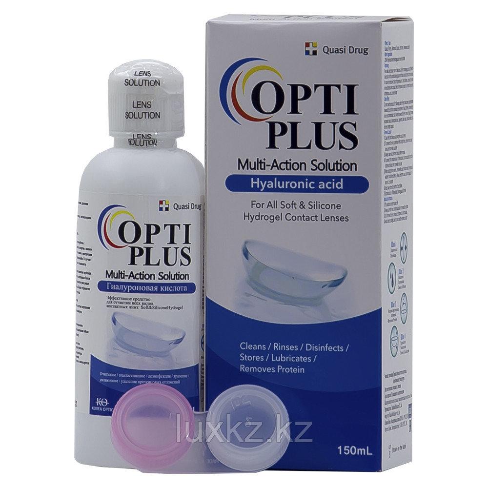 Раствор + контейнер для контактных линз Opti Plus