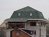 Битумная черепица (Shinglas) Шинглас Аккорд Олива (зеленый), фото 3