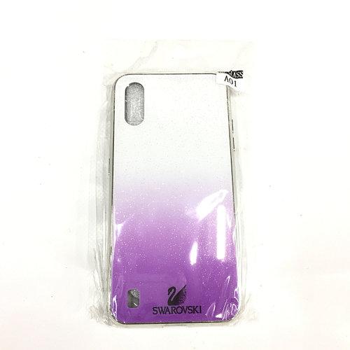 Бело-Фиолетовый чехол для Samsung Galaxy A01