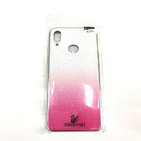Бело-фиолетовый чехол для Samsung Galaxy A20S