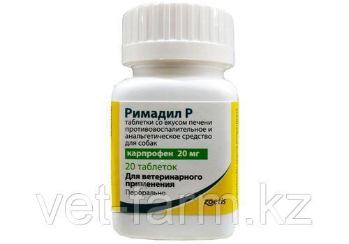 РИМАДИЛ Р таблетки 20 мг 20 таб со вкусом печени