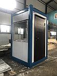 Охранные будки из сэндвич панелей 1,5*1,5*2,6 м, фото 2