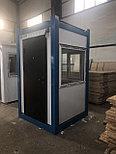 Охранные будки из сэндвич панелей 1,5*1,5*2,6 м, фото 4