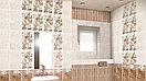 Кафель | Плитка настенная 25х40 Сабина | Sabina декор цветы, фото 2