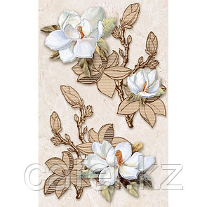 Кафель | Плитка настенная 25х40 Сабина | Sabina декор цветы
