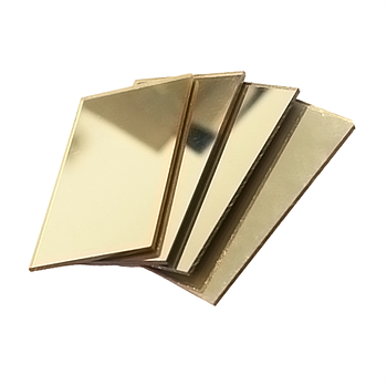 Оргстекло 2мм (зеркало золото)