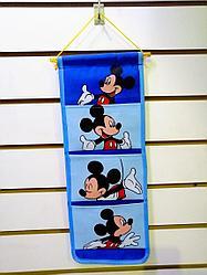 Распродажа! Подвесной детский органайзер с 4 кармашками Мики Маус