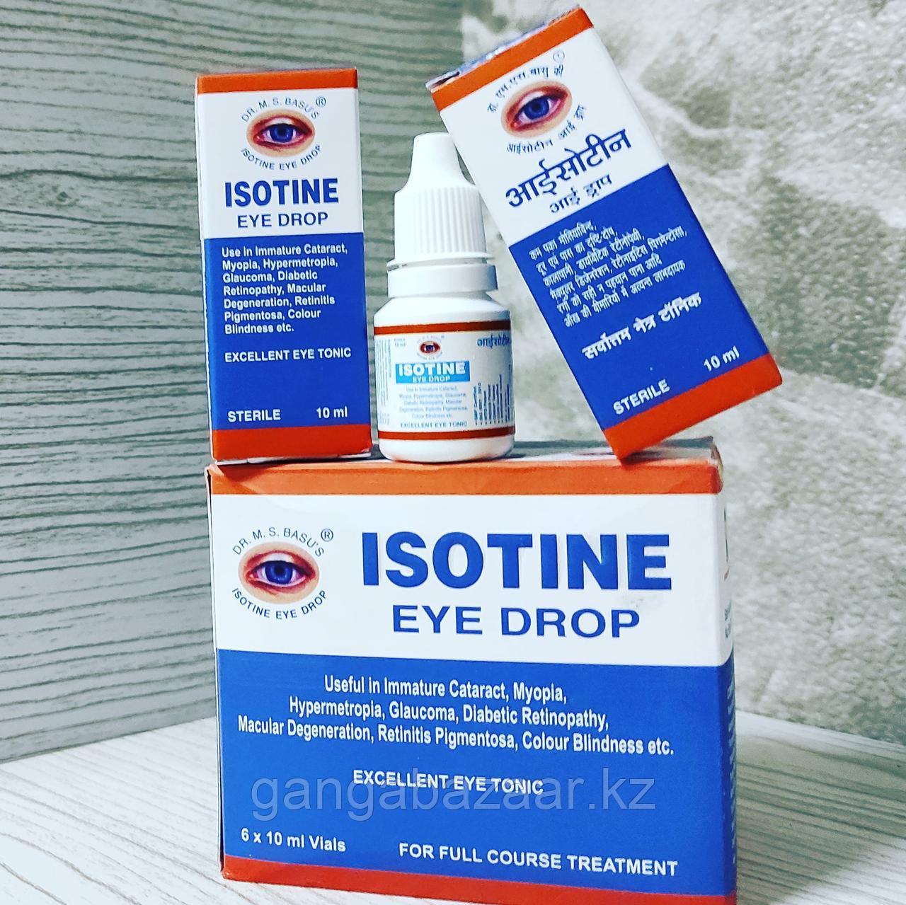 Глазные капли Айсотин (Isotine, Jagat Pharma) - глазной тоник, здоровье глаз, 10 мл