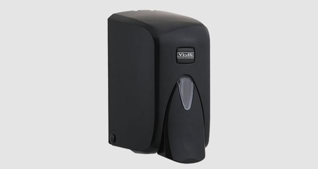 Диспенсер (дозатор) для пенки для мытья рук Vialli F5В (чёрного цвета) 500мл.