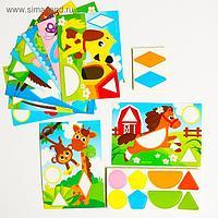 Мозаика для детей с шаблонами «Весёлые зверята»