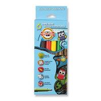 Фломастеры 6 цветов Koh-I-Noor 1012/06 'Совы', картонная упаковка, европодвес