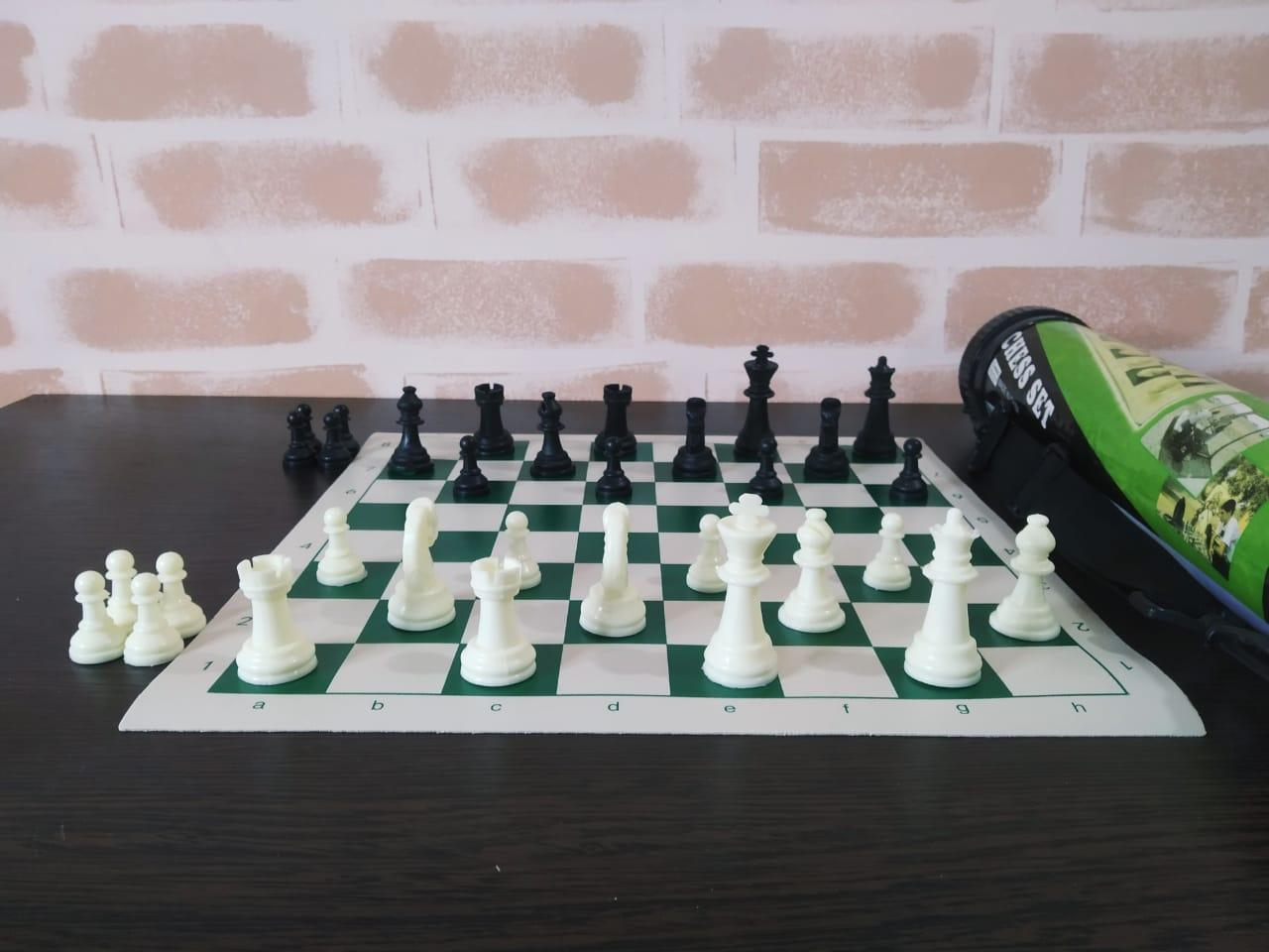 Набор шахмат переносной в тубусе 36х6.5