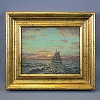 «Парусник» Автор Constant van Hoorde (1876-?)