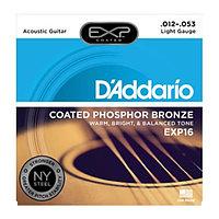 Струны для акустической гитары D'addario EXP16