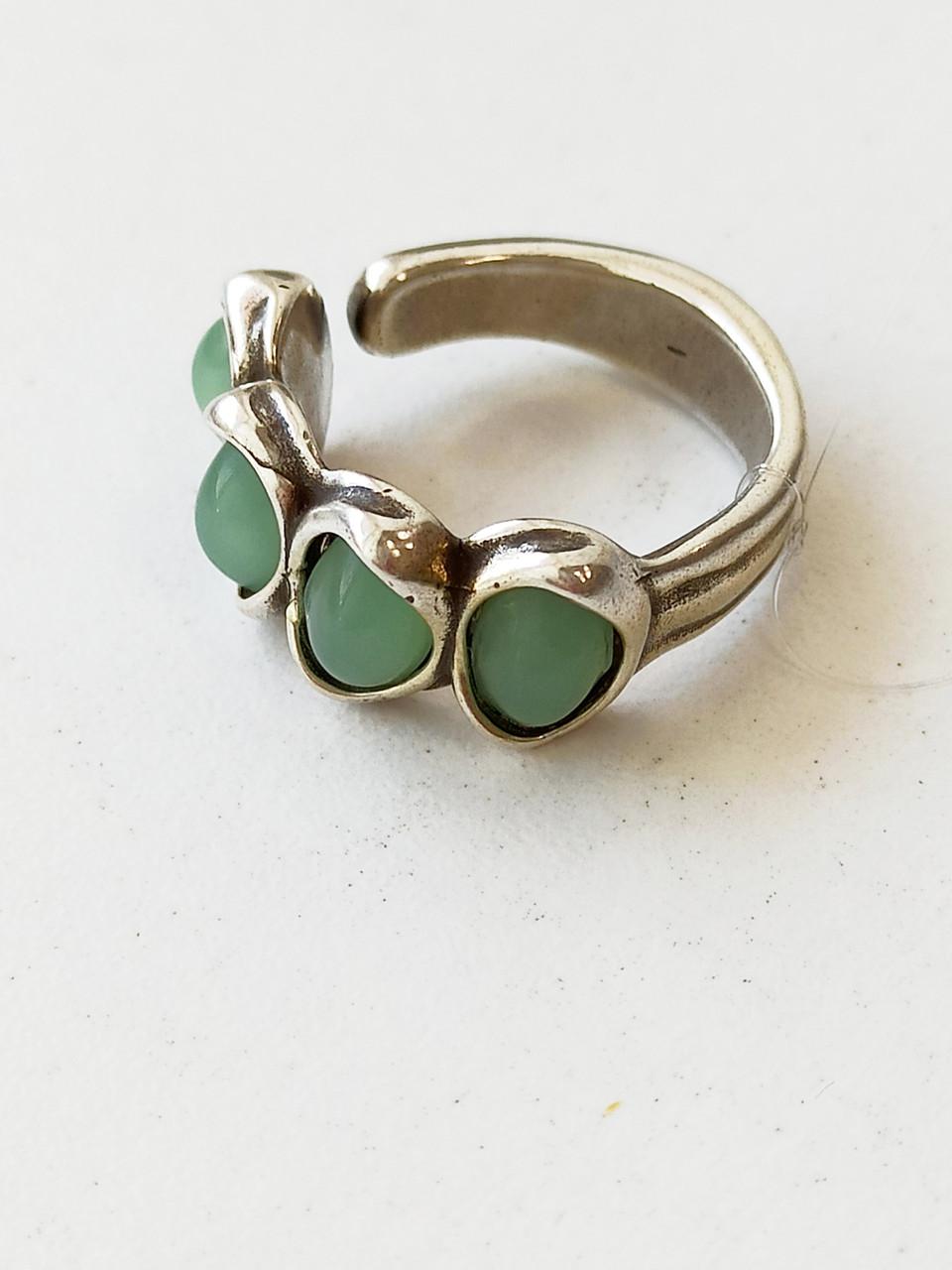 Кольцо / Indian Secret - матовый зелёный (18 размер) ЕВ90