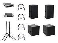 PA Set DJ комплект оборудования на 2000 ватт на 200-400м.кв.