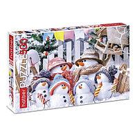 Пазл 500 элементов «Забавные снеговики»