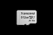 Transcend TS512GUSD300S-A Карта памяти MicroSD 512GB Class 10 U3 A1, с адаптером