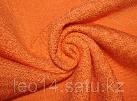 Футер 2-х ниточный, петелька с лайкрой, цвет оранжевый 06-01