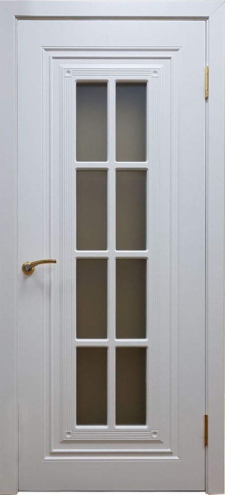 Межкомнатная двери модель Флорида белая эмаль