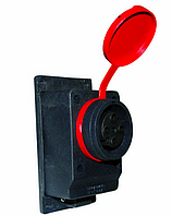 Розетка настенная с заглушкой 401030 3X16A (METE)