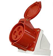 Настенная розетка 16А 380V 3P+E (4X16A) 114 RED