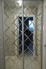 Зеркальные шкафы-купе с фацетом, фото 3