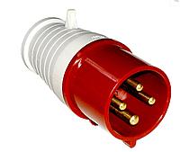 Вилка 32А 380V 3P +E (4X32A) 024 красный